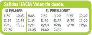 autobuses al Palmar -horarios-