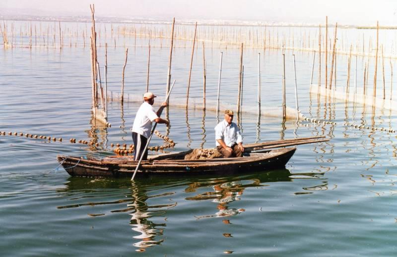 pesca tradicional en la albufera