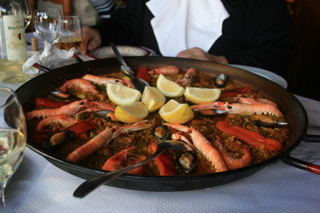Restaurante Casa Ángel. Calorías de la paella.